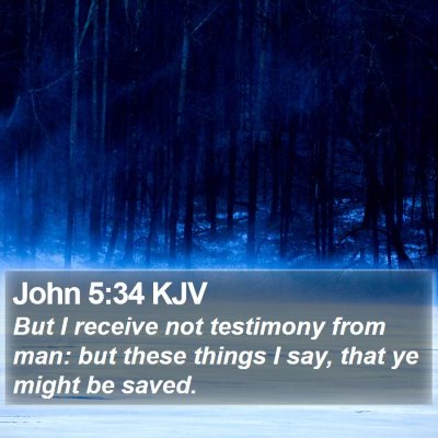 John 5:34 KJV Bible Verse Image