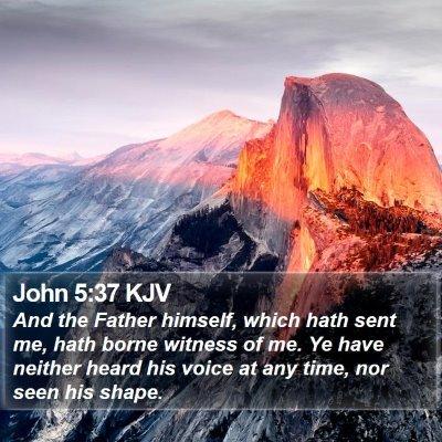 John 5:37 KJV Bible Verse Image