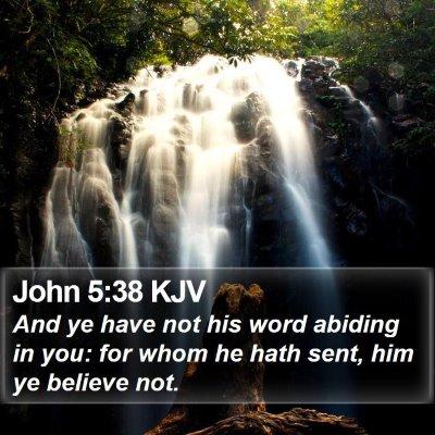 John 5:38 KJV Bible Verse Image