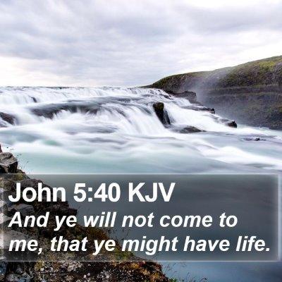 John 5:40 KJV Bible Verse Image