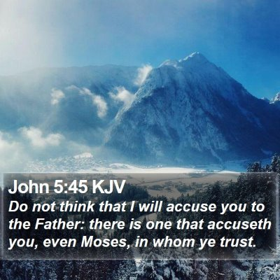 John 5:45 KJV Bible Verse Image