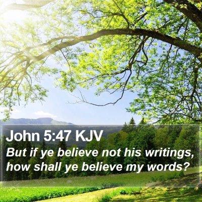 John 5:47 KJV Bible Verse Image