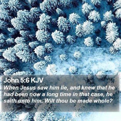 John 5:6 KJV Bible Verse Image