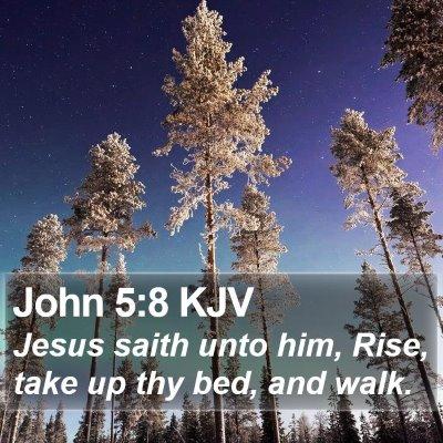 John 5:8 KJV Bible Verse Image