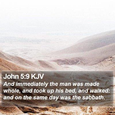 John 5:9 KJV Bible Verse Image