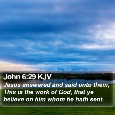 John 6:29 KJV Bible Verse Image