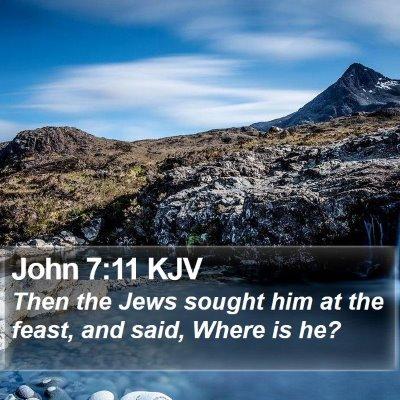 John 7:11 KJV Bible Verse Image