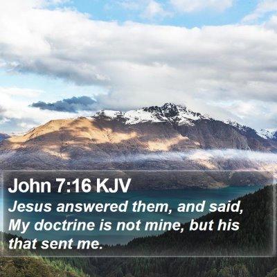 John 7:16 KJV Bible Verse Image