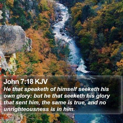 John 7:18 KJV Bible Verse Image