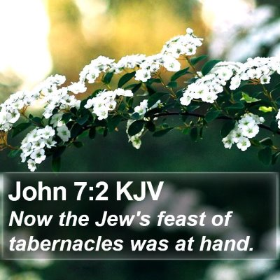 John 7:2 KJV Bible Verse Image
