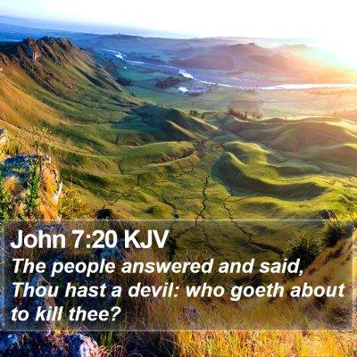 John 7:20 KJV Bible Verse Image