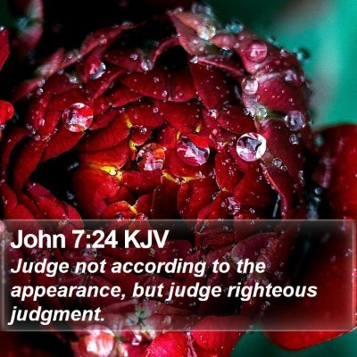 John 7:24 KJV Bible Verse Image