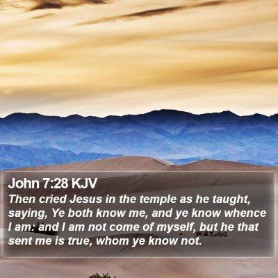 John 7:28 KJV Bible Verse Image