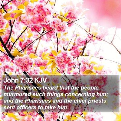 John 7:32 KJV Bible Verse Image
