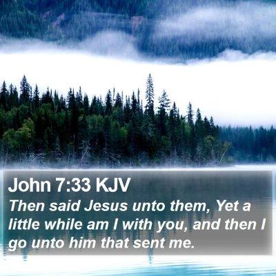 John 7:33 KJV Bible Verse Image