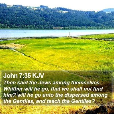 John 7:35 KJV Bible Verse Image