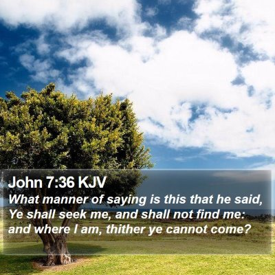 John 7:36 KJV Bible Verse Image