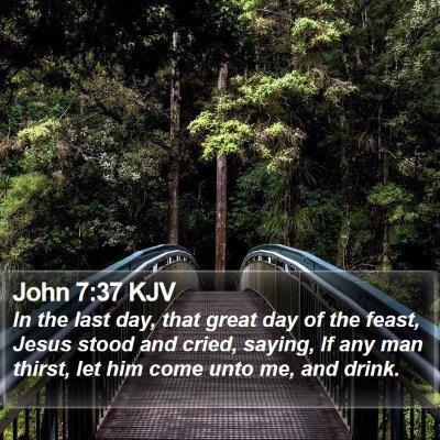 John 7:37 KJV Bible Verse Image