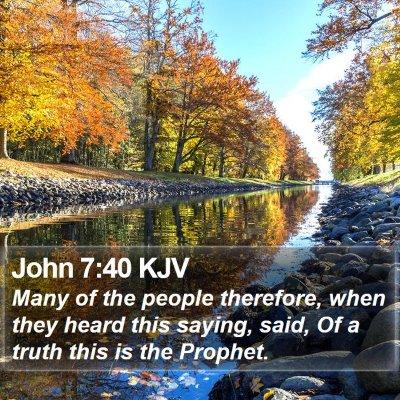 John 7:40 KJV Bible Verse Image