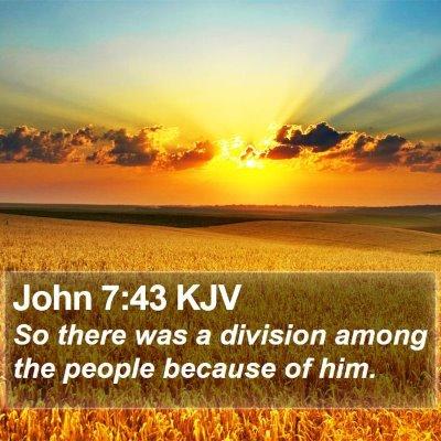 John 7:43 KJV Bible Verse Image