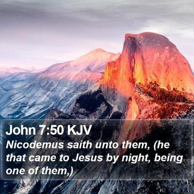John 7:50 KJV Bible Verse Image