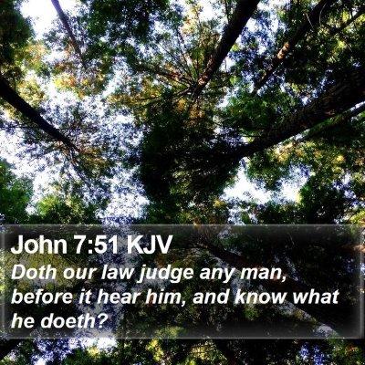 John 7:51 KJV Bible Verse Image