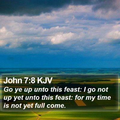 John 7:8 KJV Bible Verse Image