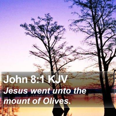 John 8:1 KJV Bible Verse Image