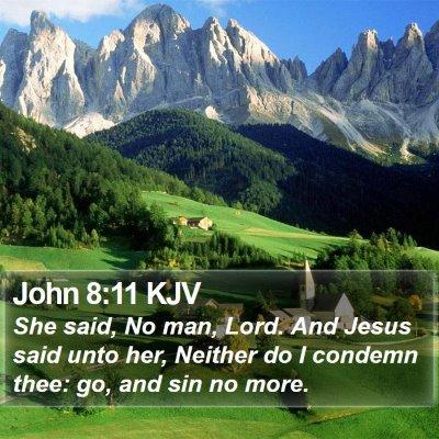 John 8:11 KJV Bible Verse Image