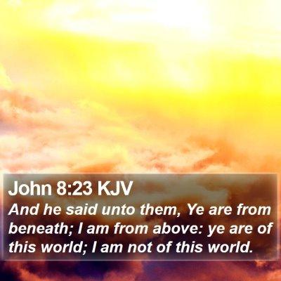 John 8:23 KJV Bible Verse Image