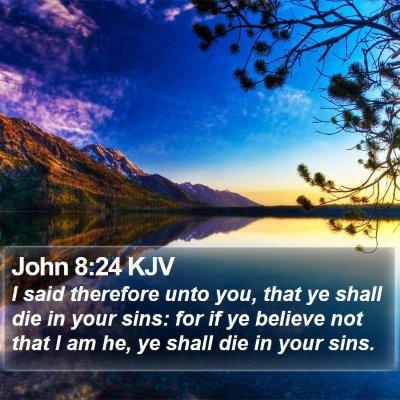 John 8:24 KJV Bible Verse Image