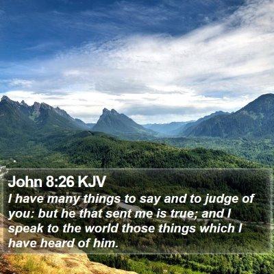 John 8:26 KJV Bible Verse Image