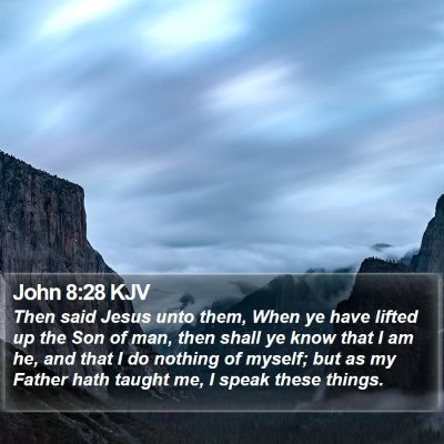 John 8:28 KJV Bible Verse Image