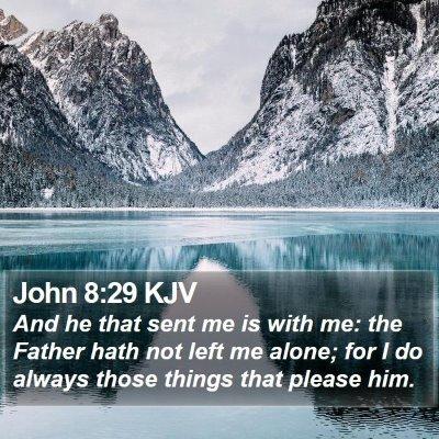 John 8:29 KJV Bible Verse Image