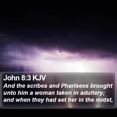 John 8:3 KJV Bible Verse Image