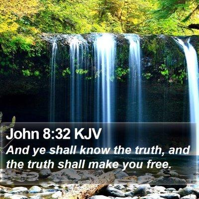 John 8:32 KJV Bible Verse Image