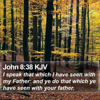 John 8:38 KJV Bible Verse Image