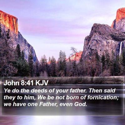 John 8:41 KJV Bible Verse Image