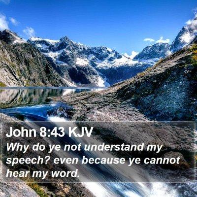 John 8:43 KJV Bible Verse Image