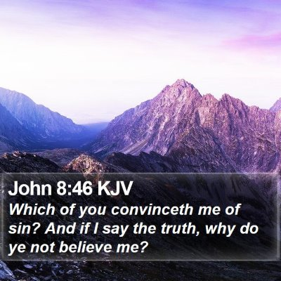 John 8:46 KJV Bible Verse Image