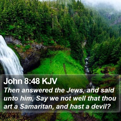 John 8:48 KJV Bible Verse Image