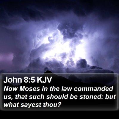 John 8:5 KJV Bible Verse Image
