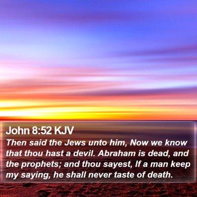 John 8:52 KJV Bible Verse Image