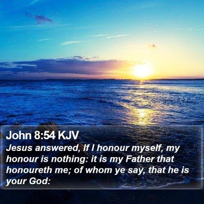 John 8:54 KJV Bible Verse Image