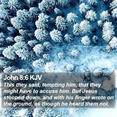 John 8:6 KJV Bible Verse Image