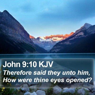 John 9:10 KJV Bible Verse Image