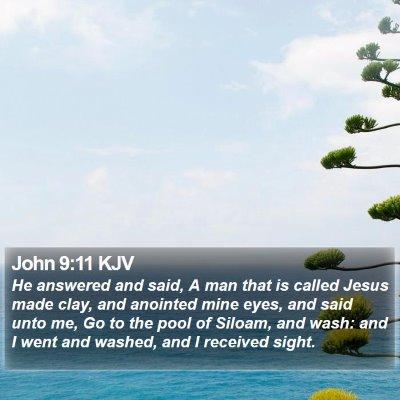 John 9:11 KJV Bible Verse Image