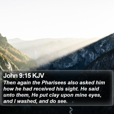 John 9:15 KJV Bible Verse Image