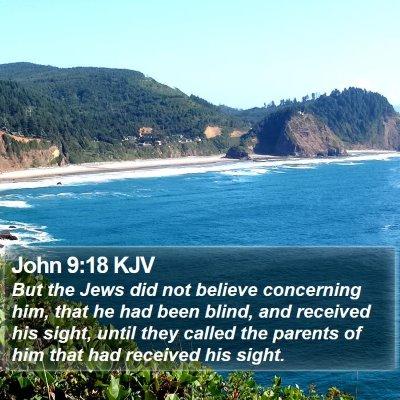 John 9:18 KJV Bible Verse Image