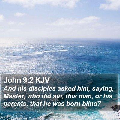 John 9:2 KJV Bible Verse Image